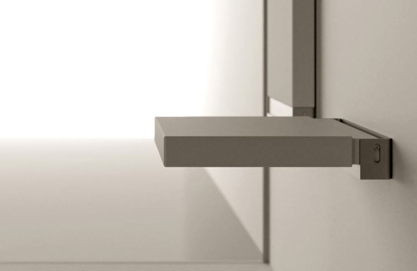 Folding Shower Seat Wall Mounted Corian Commercial Sedile
