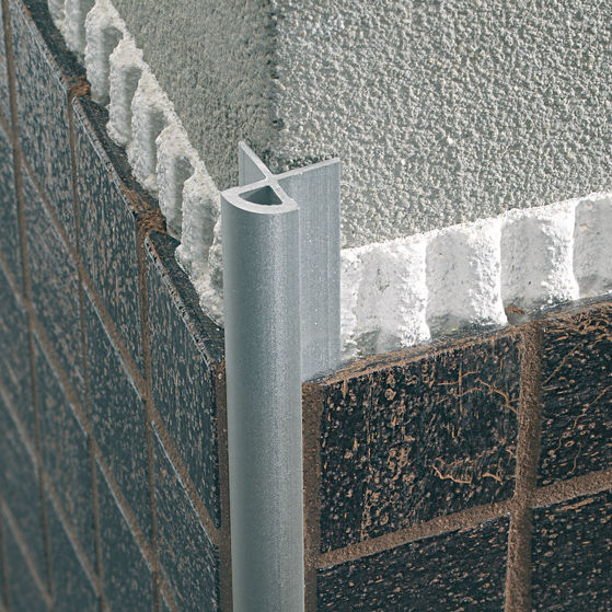 Aluminum Edge Trim For Tiles Outside Corner Mosaictec Rjm