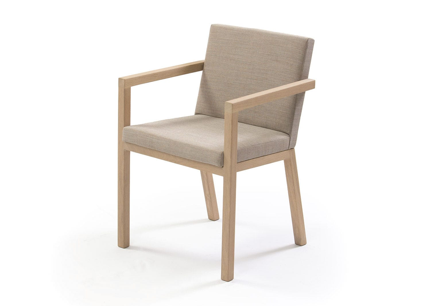 Contemporary Dining Chair With Armrests Upholstered Fabric
