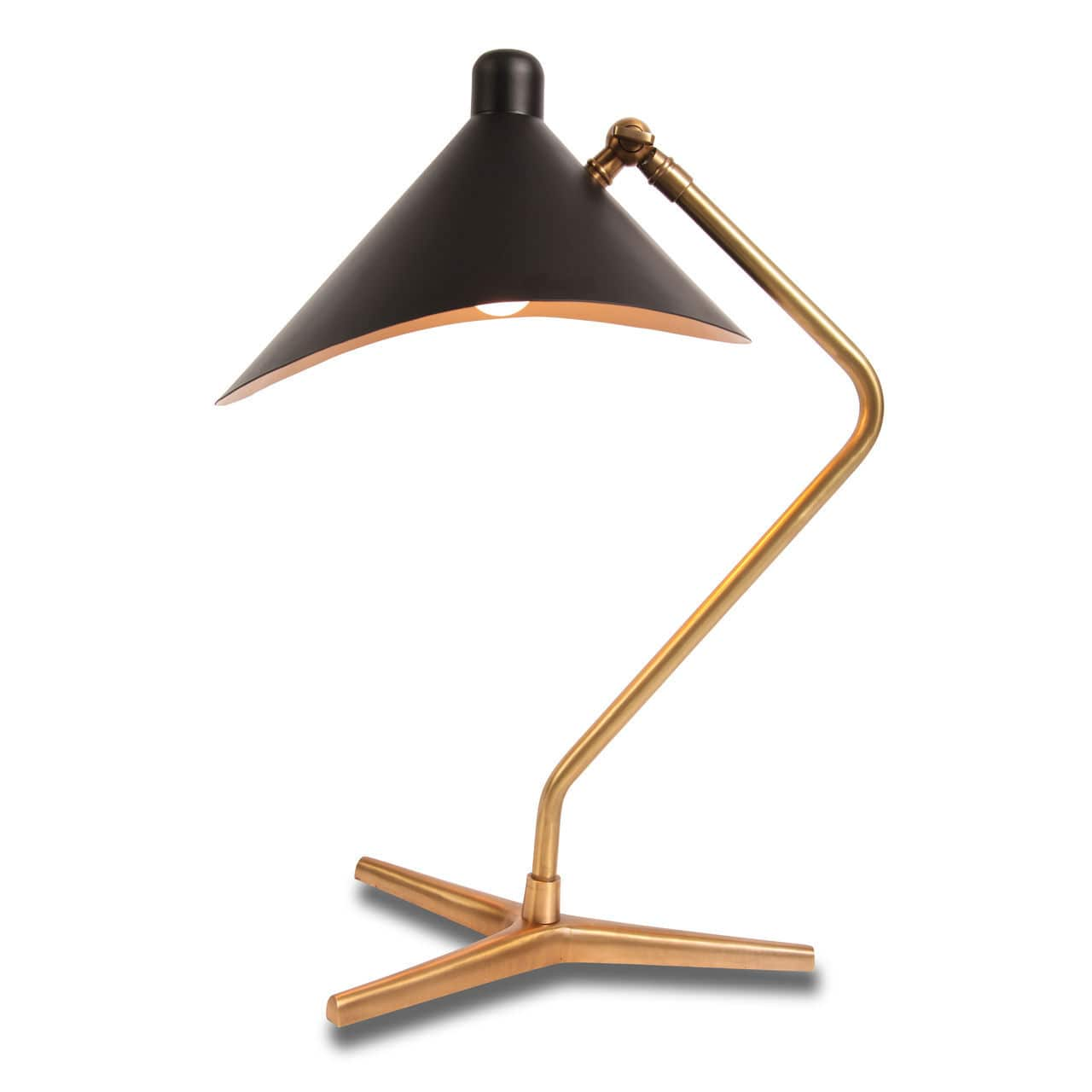 Table Lamp Dino Gong Contemporary Brass Adjustable