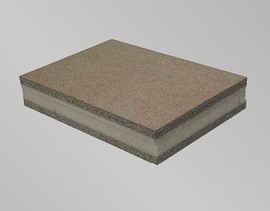 Floor Sandwich Panel Particle Board Facing Polyurethane Foam Core Due