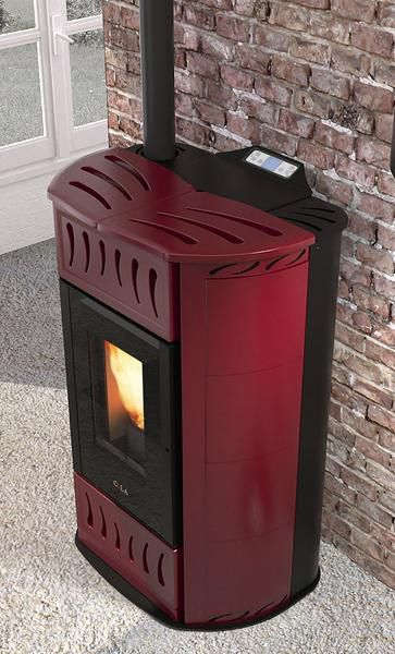 Pellet heating stove / steel / cast iron / contemporary ...