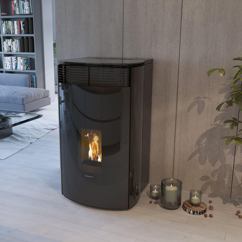 Stufe A Pellet Cassino pellet heating stove - kristal - pasqualicchio - multi-fuel
