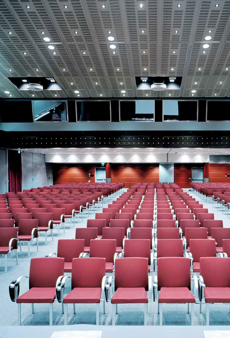 Tablet Auditorium Seat Stackable With Armrests