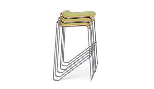 Contemporary Bar Stool Metal Stackable White