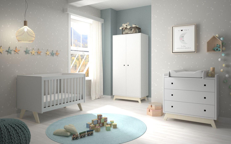 White Children S Bedroom Furniture Set Madavin Mathy By Bols Baby