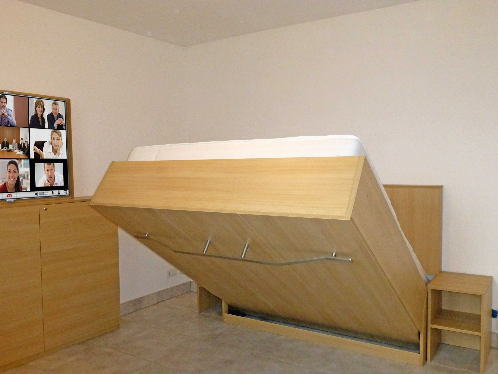 Wall Bed Manon Liftsecurity Double Contemporary Custom