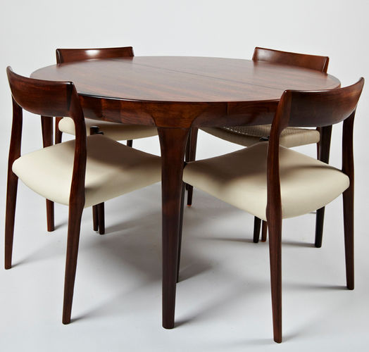 Scandinavian Design Dining Table 1964 69 Paere Dansk Rosewood Round Oval