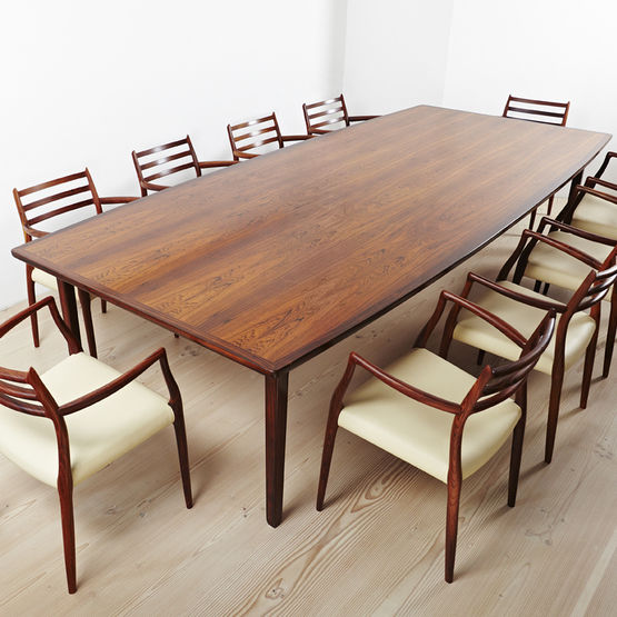 Scandinavian Design Dining Table Rosewood Rectangular 1960 1969