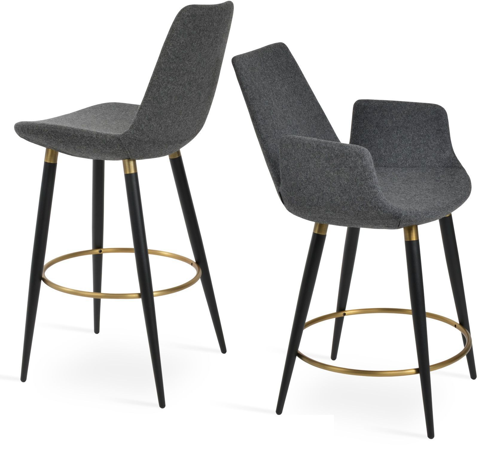 Contemporary bar chair - EIFFEL - sohoConcept - upholstered / with