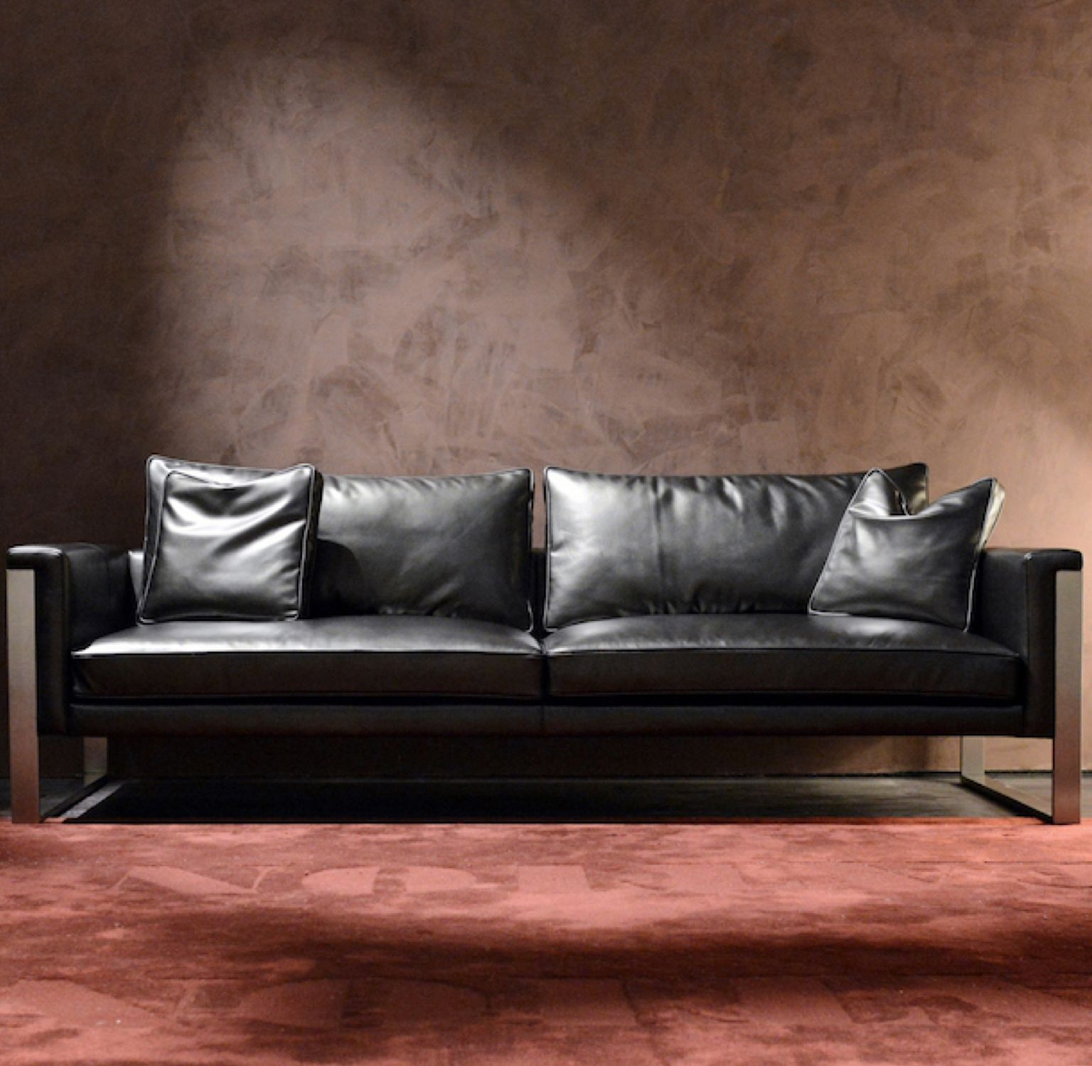 Contemporary Sofa Wood Fabric Commercial Boston By