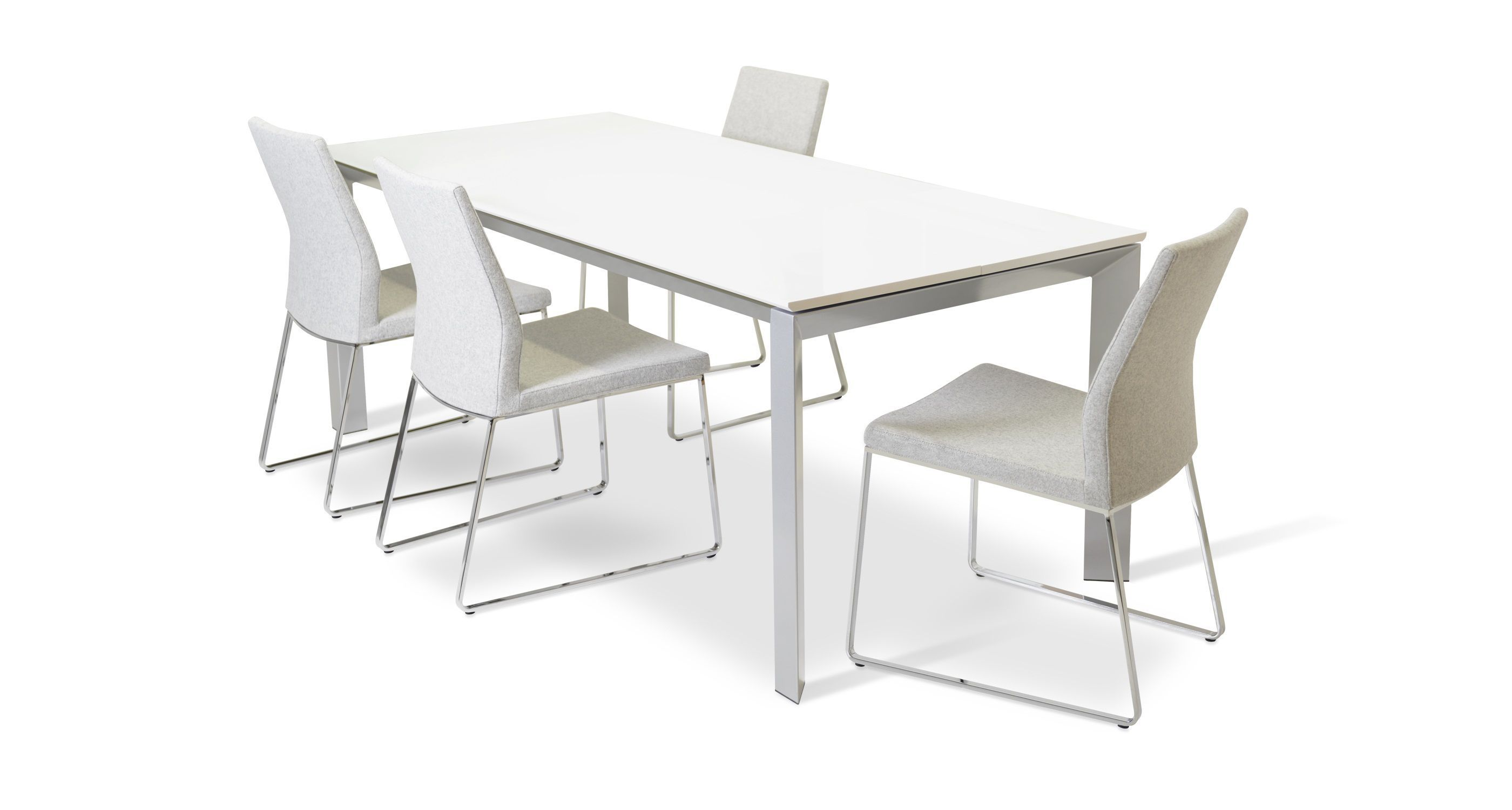 White Tempered Gl Dining Table Design Ideas