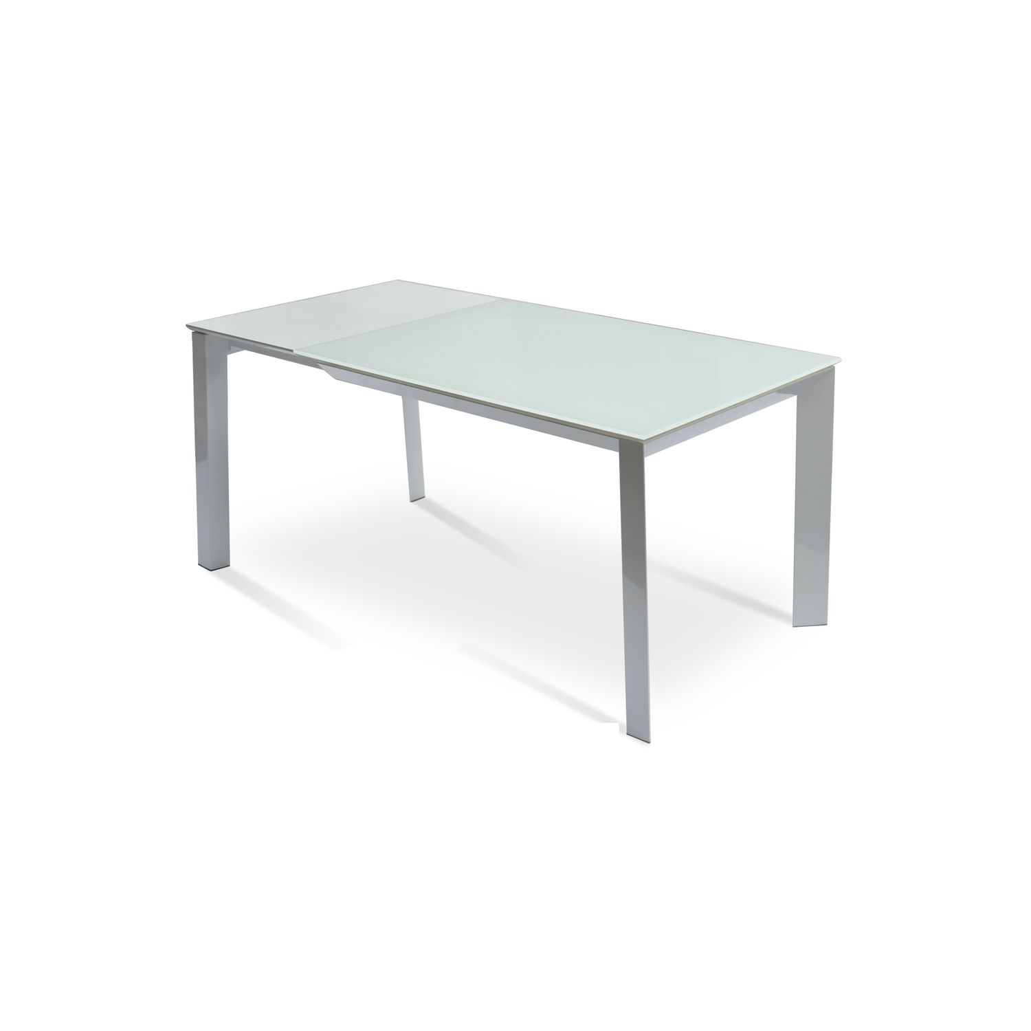 Contemporary Dining Table Tempered Gl Metal Rectangular