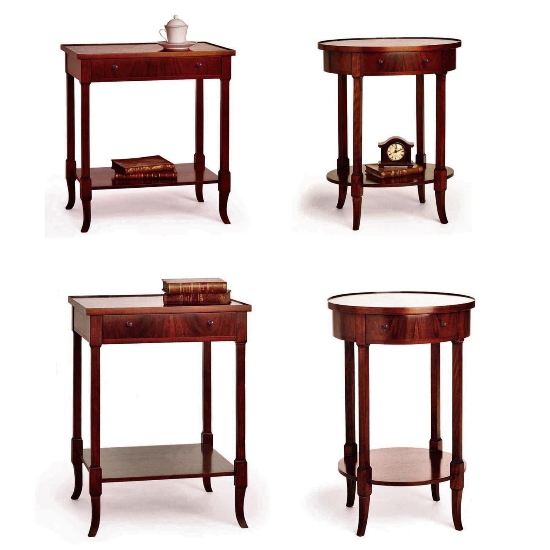 Traditional Bedside Table Amt 506 Artesmoble Walnut Beech Walnut Base