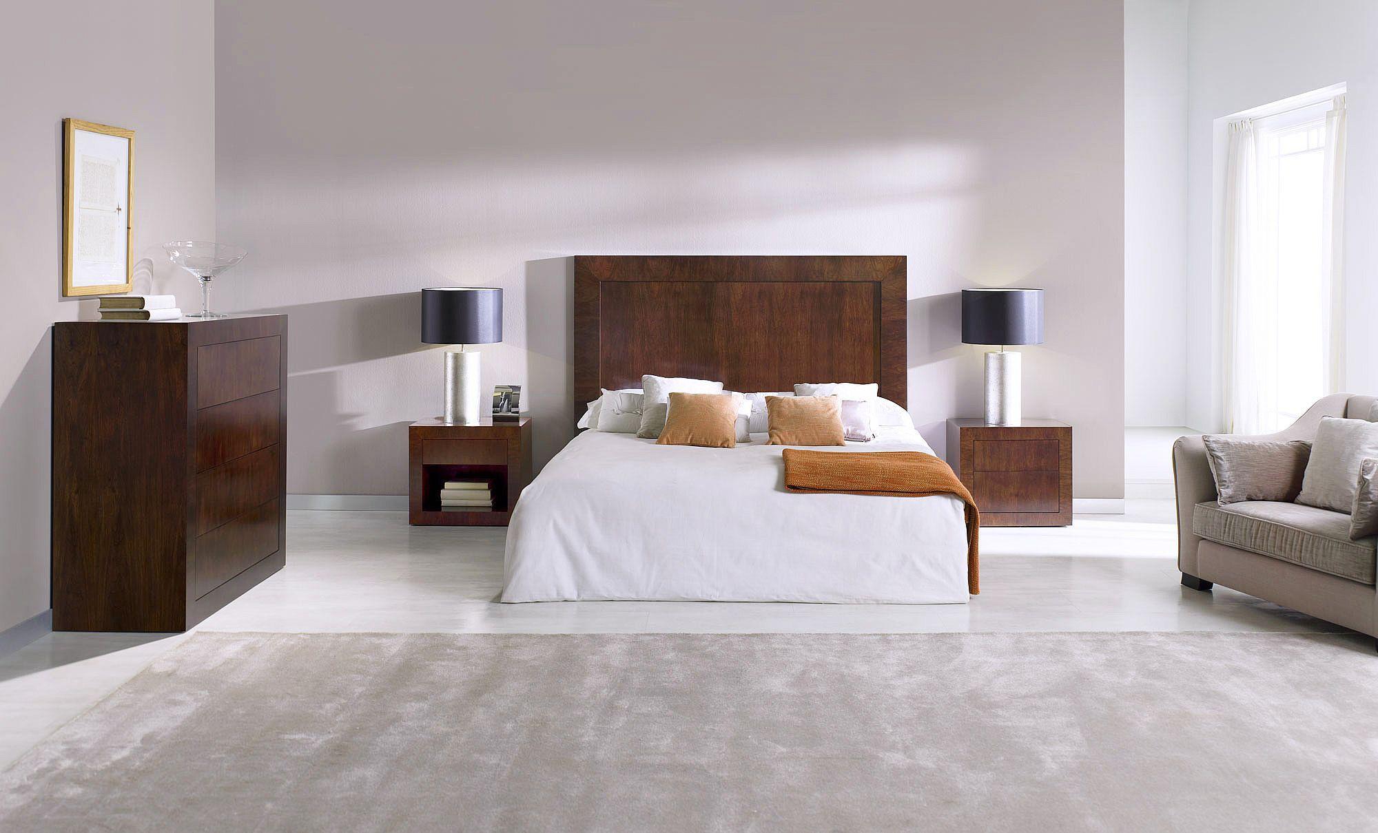 Double bed headboard / contemporary / walnut - T-876 ...