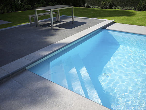 Automatic swimming pool cover / thermal / slatted / immersed ...