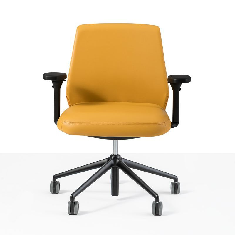 Contemporary office chair / on casters / with armrests