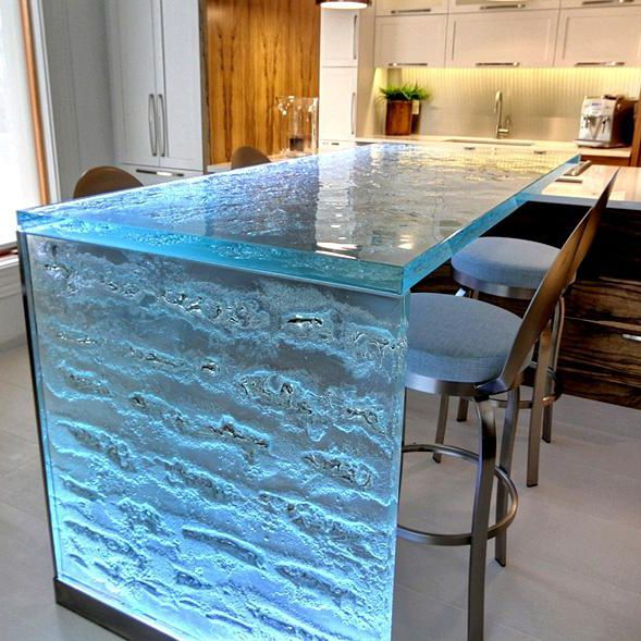 Bar Counter Kitchen Table Thinkglass Glass Upright