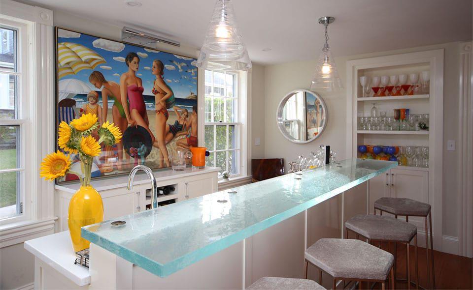 Bar counter / kitchen / glass / upright - ThinkGlass