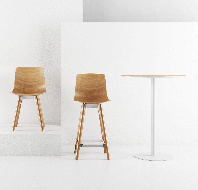 Amazing Contemporary Bar Chair Oak Molded Plywood Walnut Beatyapartments Chair Design Images Beatyapartmentscom