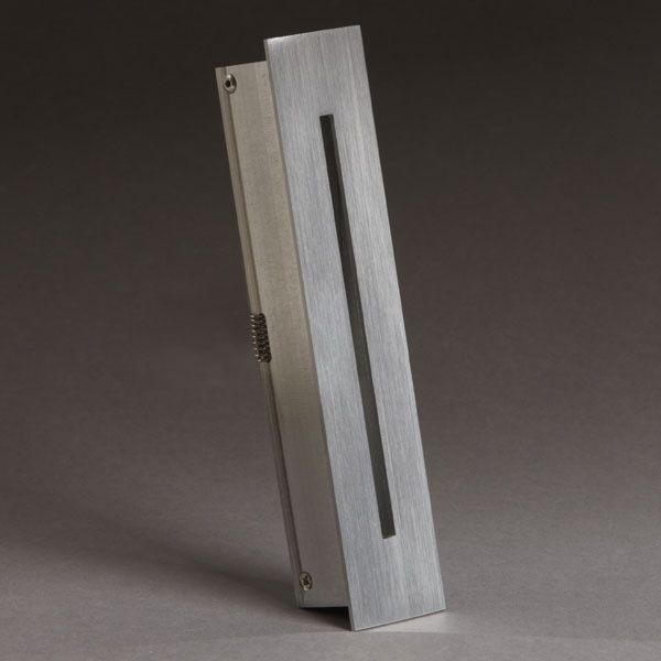 recessed wall light fixture / LED / rectangular