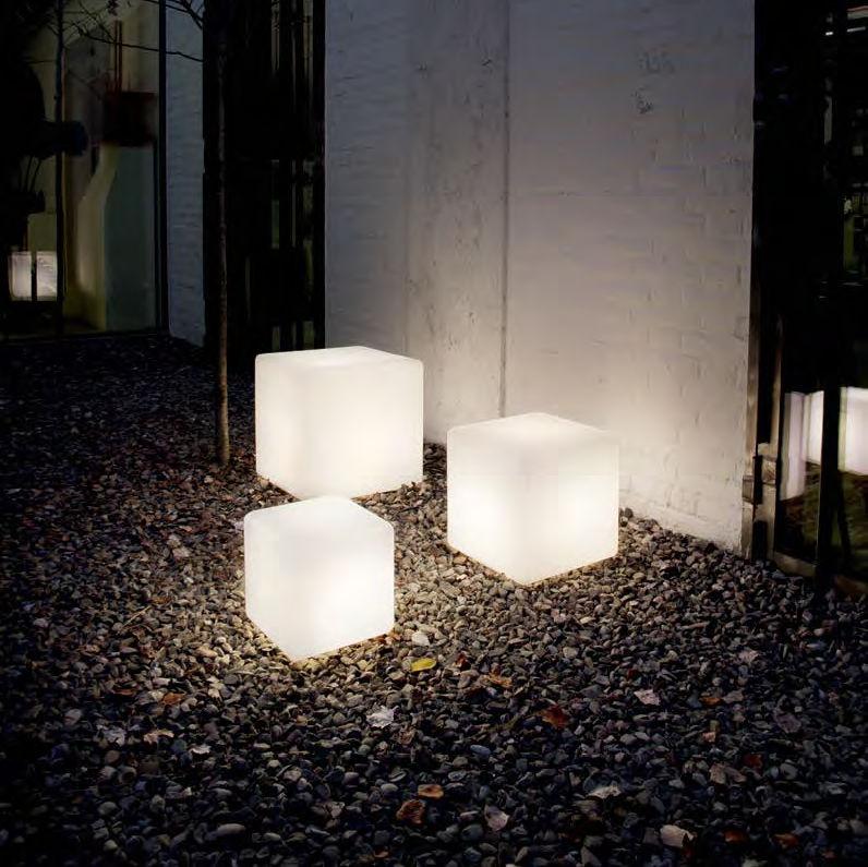 Floor Lamp Contemporary Plastic Garden Luna