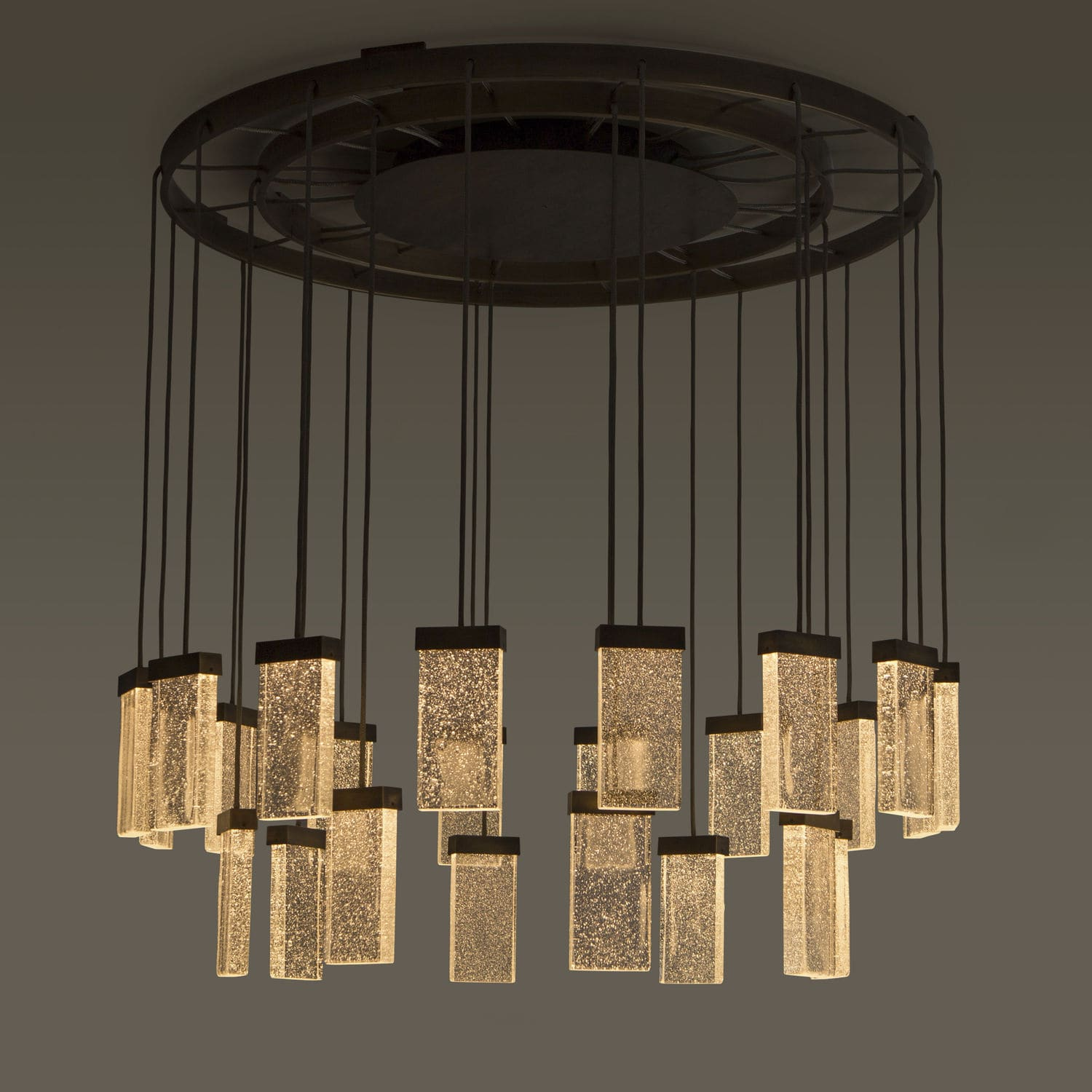 Image of: Contemporary Chandelier 24 Grand Cru Chandelier Massifcentral Glass Aluminum Led