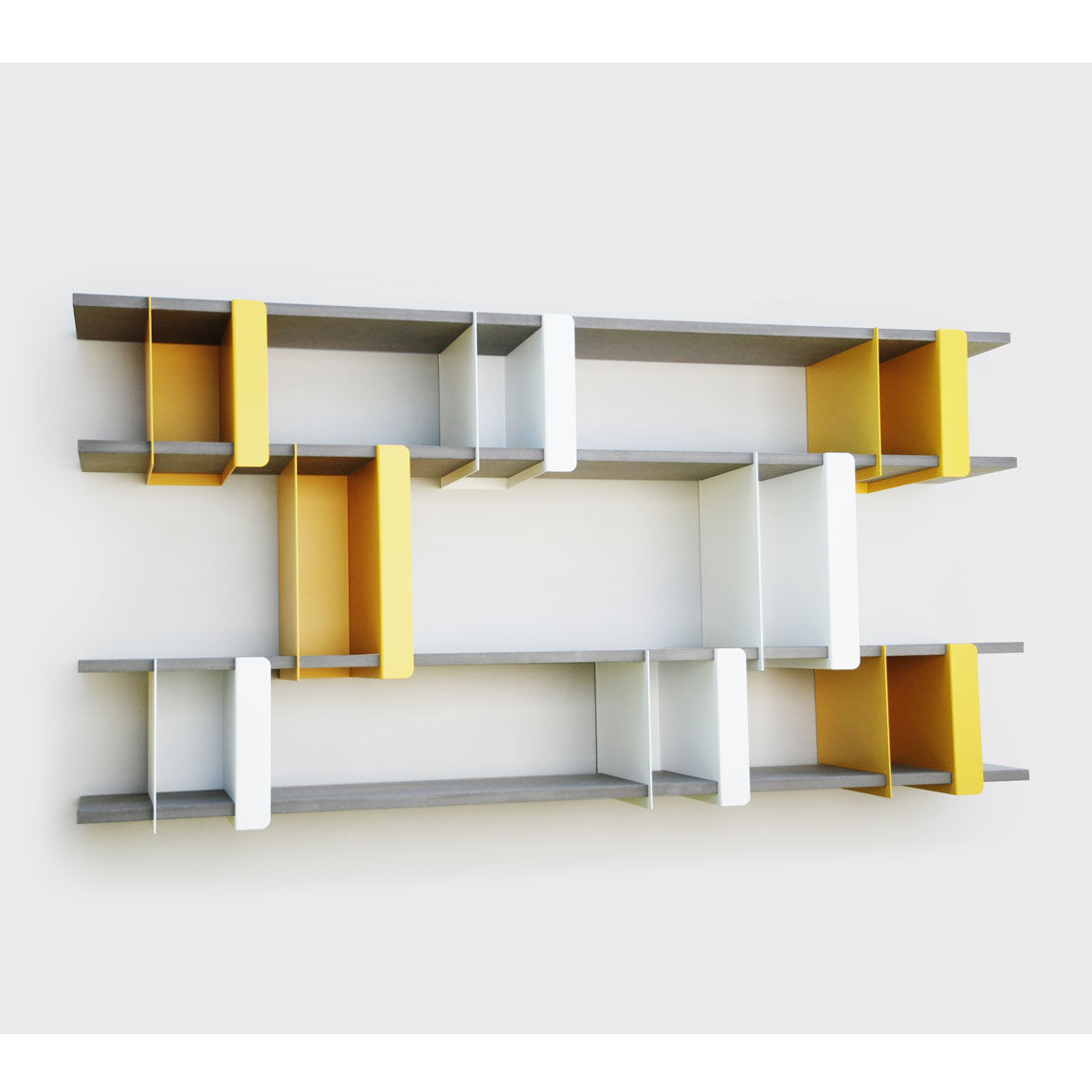 Wall Mounted Shelf Contemporary Metal Lacquered Steel Plio Ho