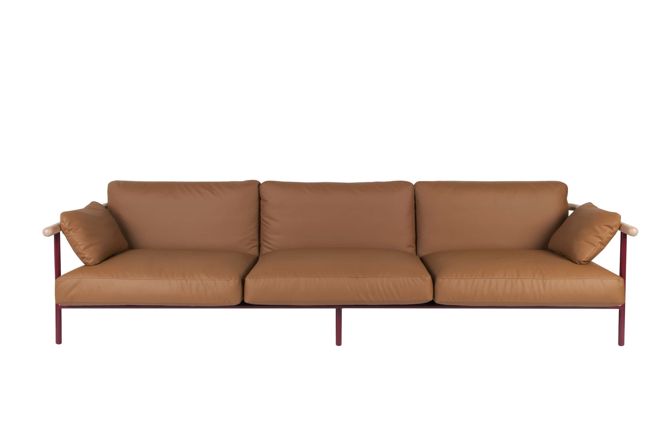 Contemporary sofa leather steel fabric X RAY by Alain