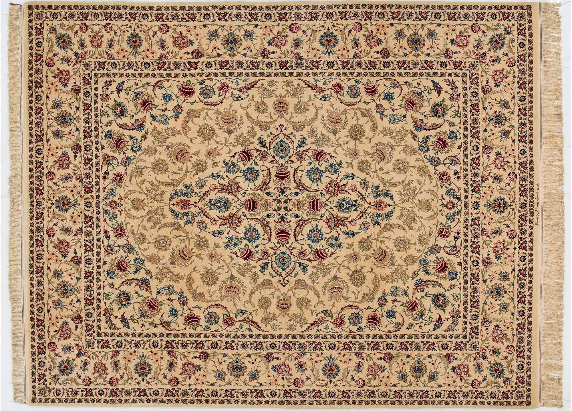 Oriental rug / floral pattern / wool