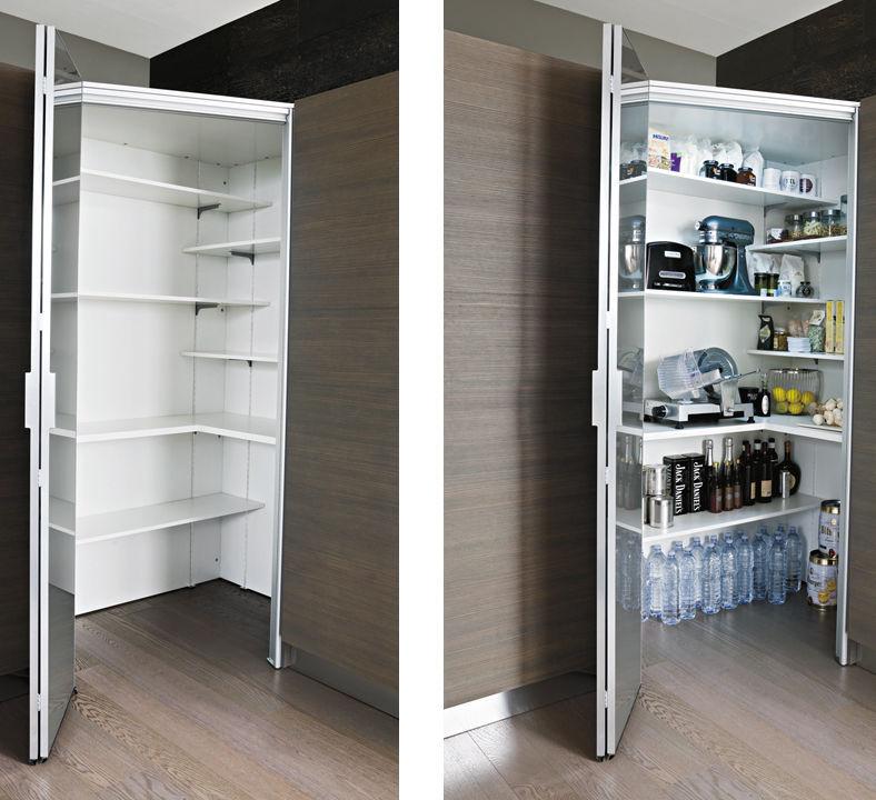 Contemporary Storage Cabinet For Kitchen Wooden Walk In Larder Units