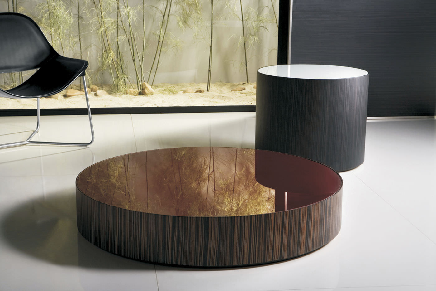 Super Contemporary Coffee Table Glass Round Berkeley 12In Home Interior And Landscaping Eliaenasavecom