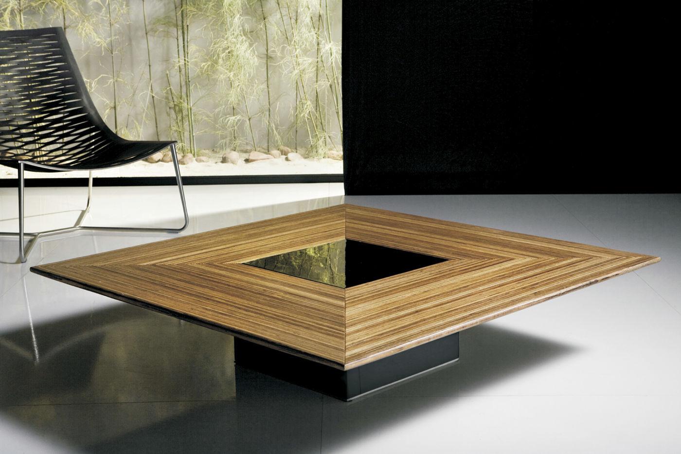 Grande Table Basse Bois contemporary coffee table / wooden / square - fitzroy - modloft
