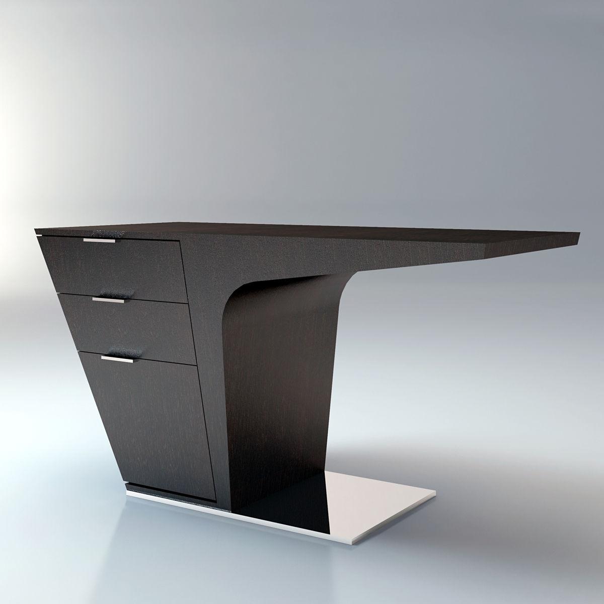 Wenge Desk Contemporary Mercer Modloft