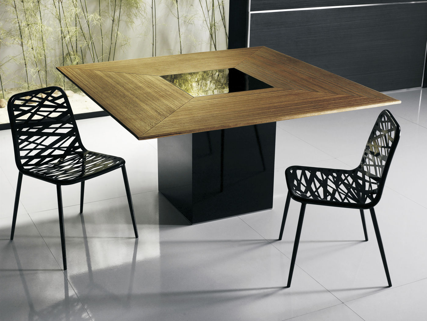Table A Manger Carree contemporary dining table / wooden / square - fitzroy - modloft