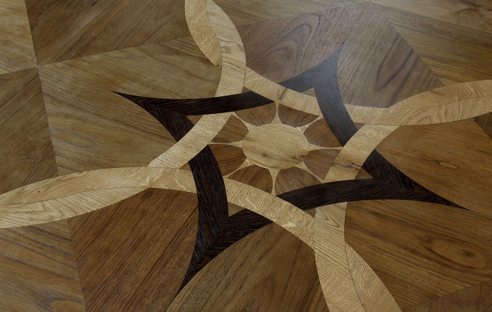 Wenge Oak Solid Wood Flooring solid parquet floor / glued / wenge / oiled - decima by