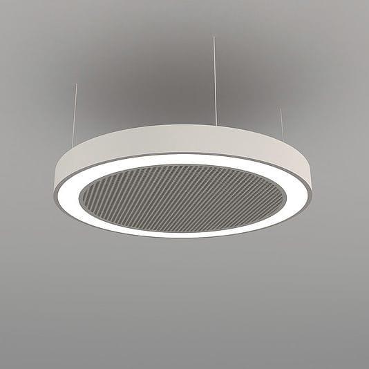 Hanging Light Fixture Led Round Aluminum Acoustics Disc Naa D Fb