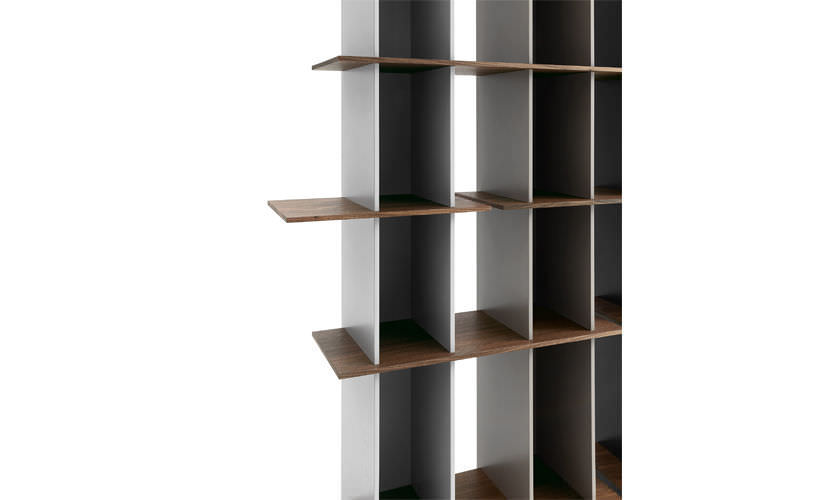 Modular Bookcase Contemporary Oak Wood Veneer Joint