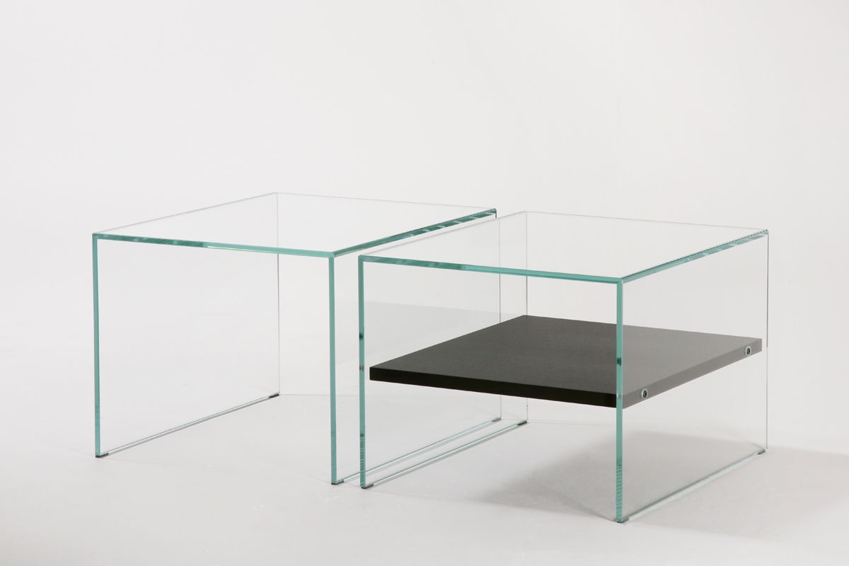 Contemporary Side Table Gl Oak Rectangular