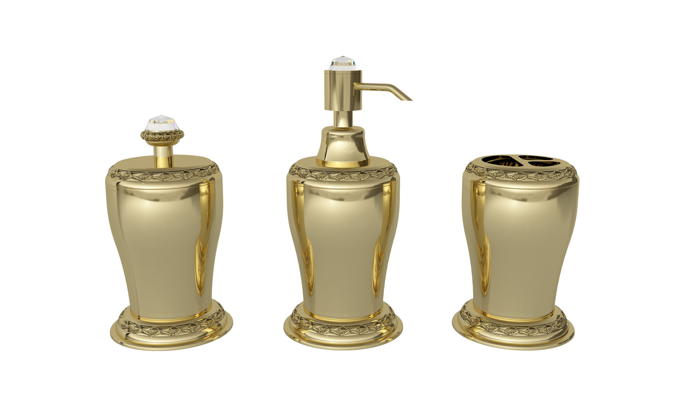 Free Standing Soap Dispenser Plastic Manual Exclusive Bathroom Accessories With Swarovski Crystal
