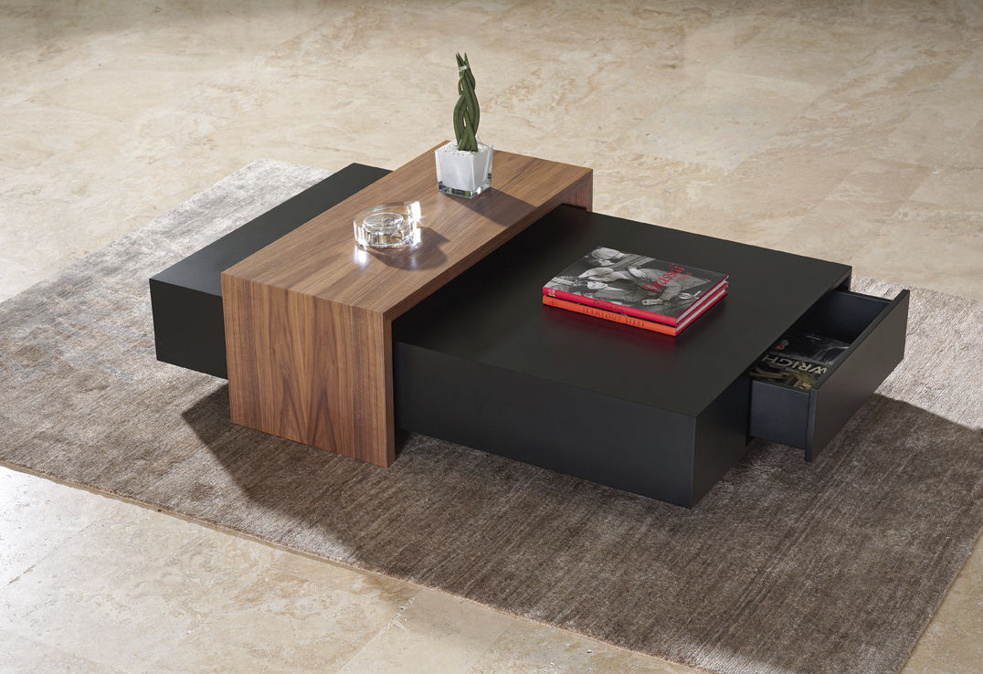 Contemporary Coffee Table Wooden Rectangular With