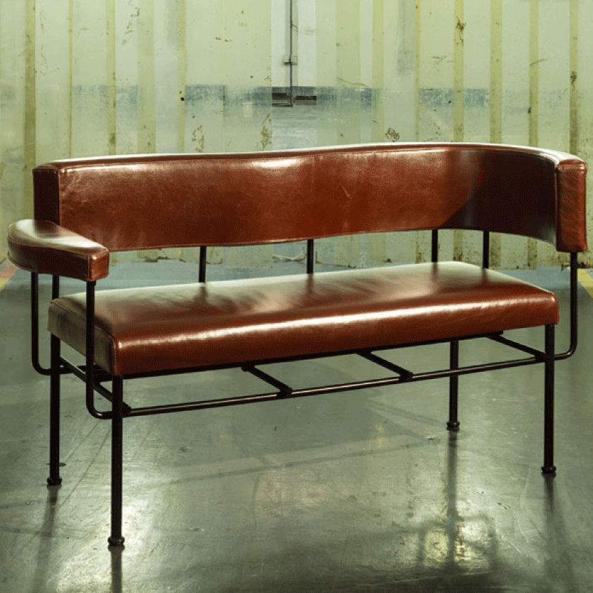 Contemporary Upholstered Bench Cotton Stellar Works Leather