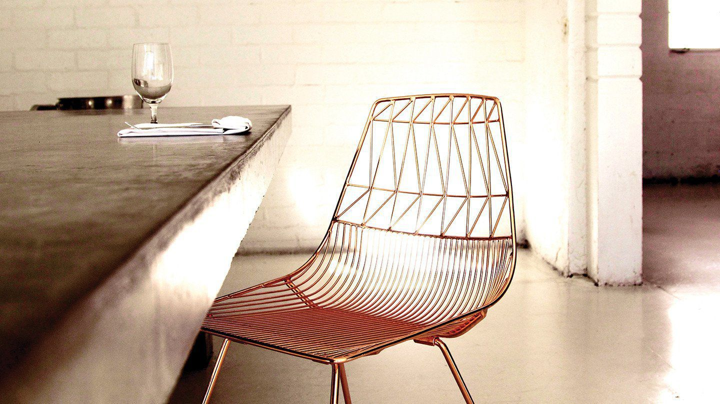 Contemporary Dining Chair Stacking With Removable Cushion Sled Base
