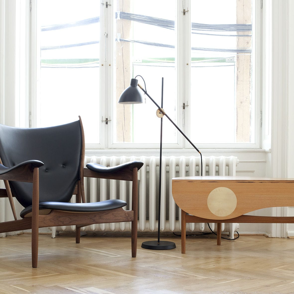 Excellent Scandinavian Design Armchair Teak Walnut Leather Gmtry Best Dining Table And Chair Ideas Images Gmtryco