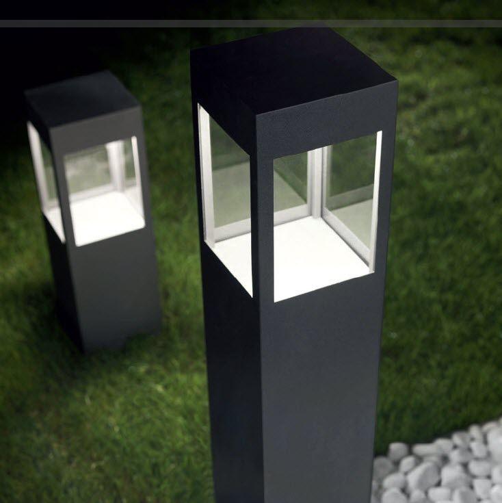 Garden Bollard Light Contemporary Metal Led
