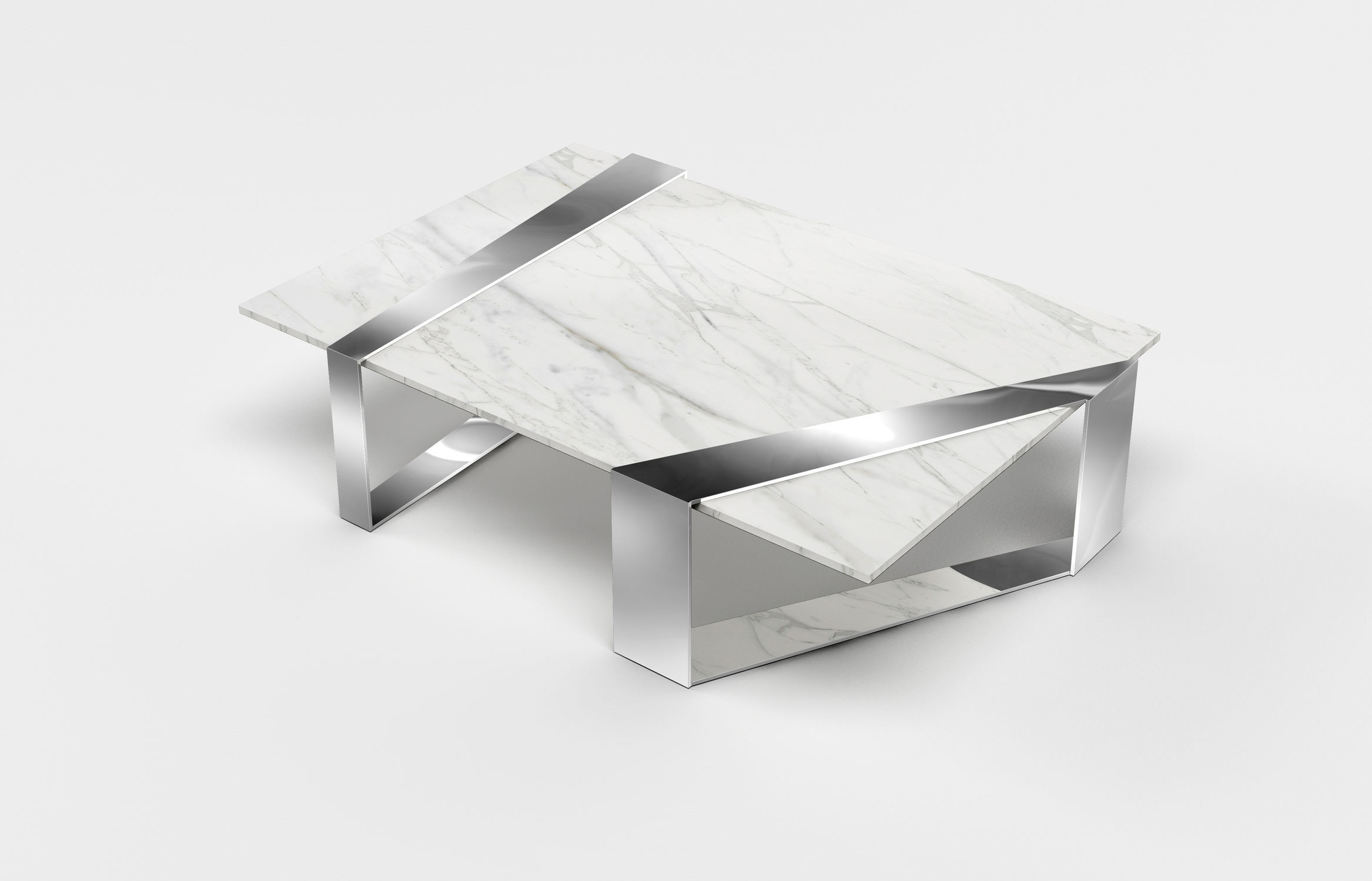 Miraculous Contemporary Coffee Table Polished Stainless Steel Marble Rectangular Squirreltailoven Fun Painted Chair Ideas Images Squirreltailovenorg