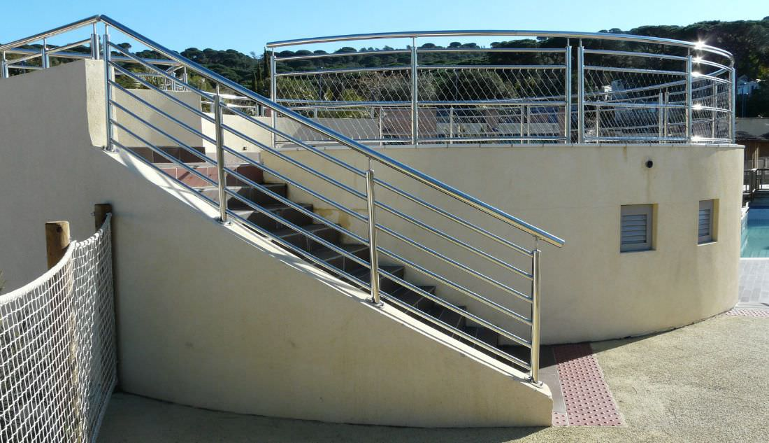 Metal Railing Stainless Steel With Bars Outdoor