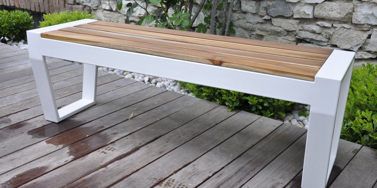 Sensational Garden Bench Contemporary Teak Ipe Oscar By Villa Gmtry Best Dining Table And Chair Ideas Images Gmtryco