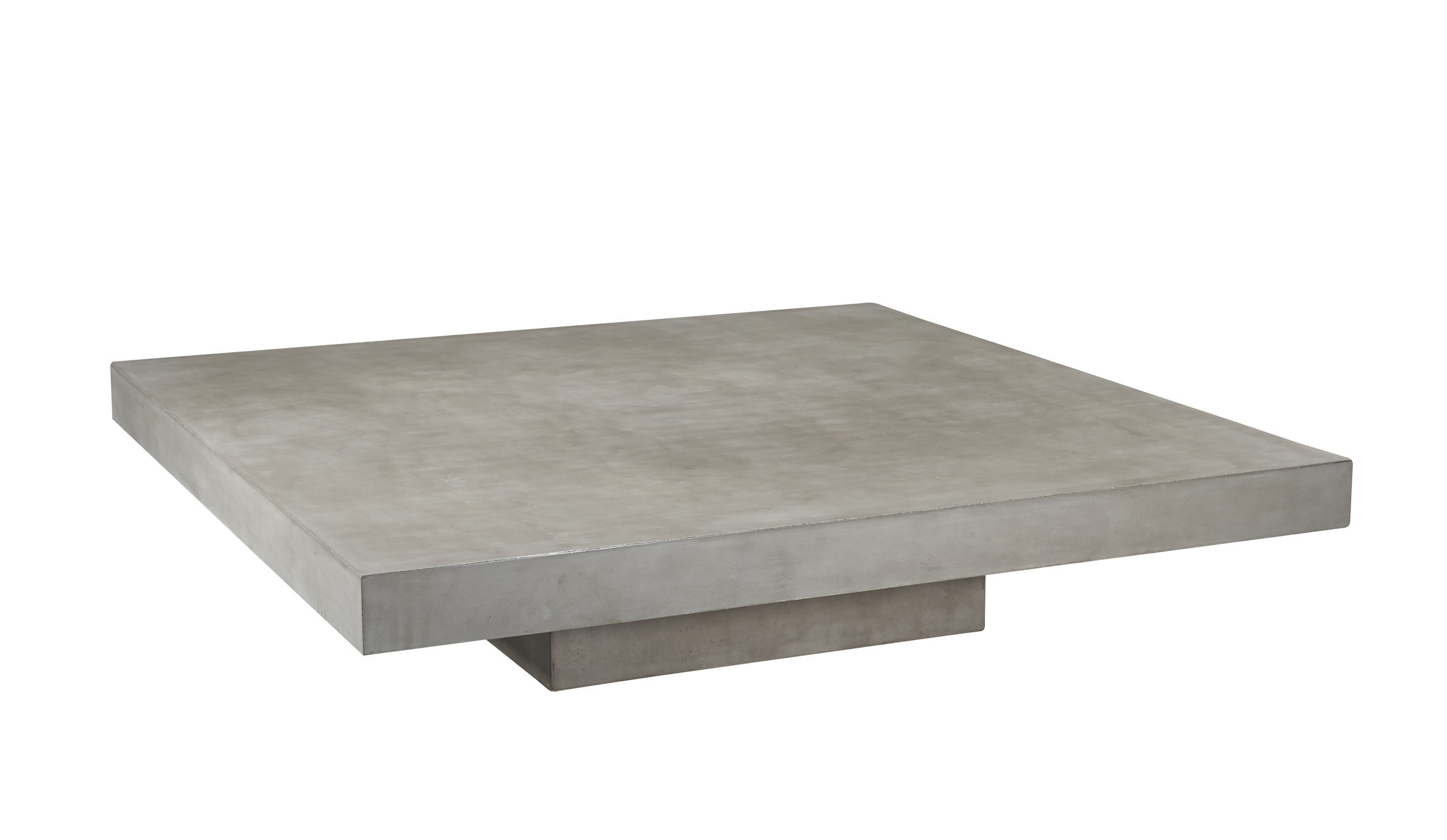 Contemporary Coffee Table Concrete Square Outdoor Ray