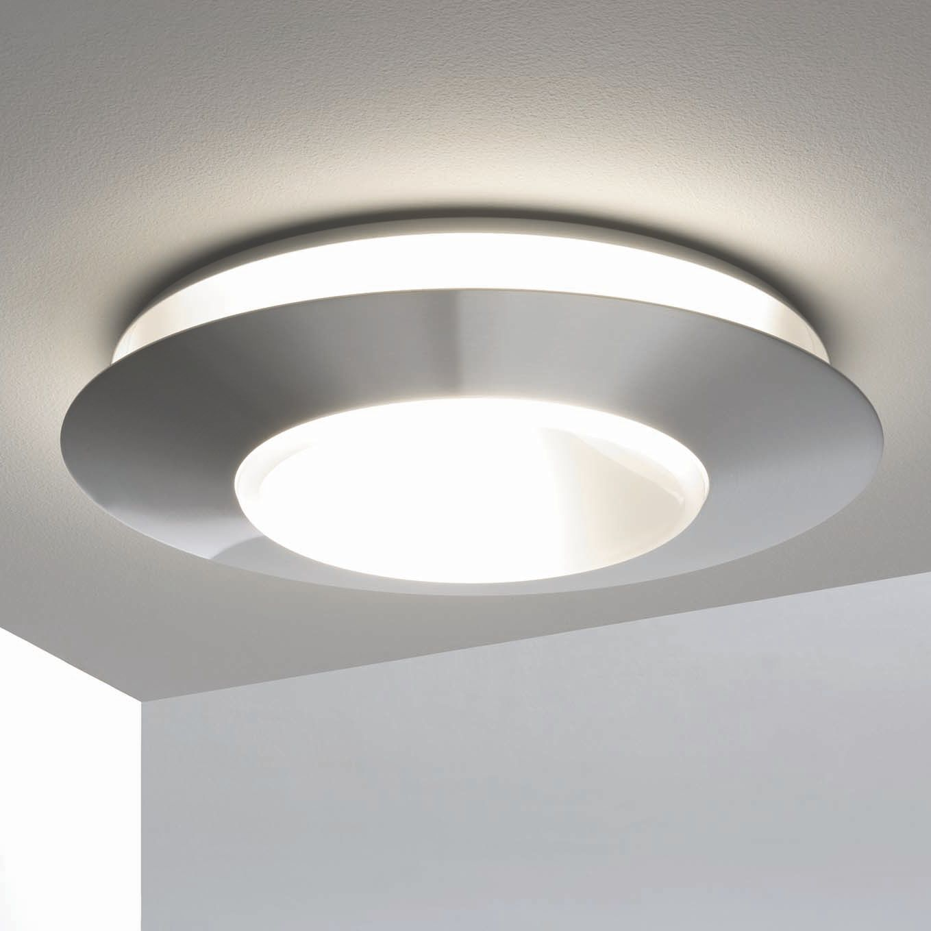 Contemporary Ceiling Light Round Stainless Steel Led Ring 47 By Erik Magnussen